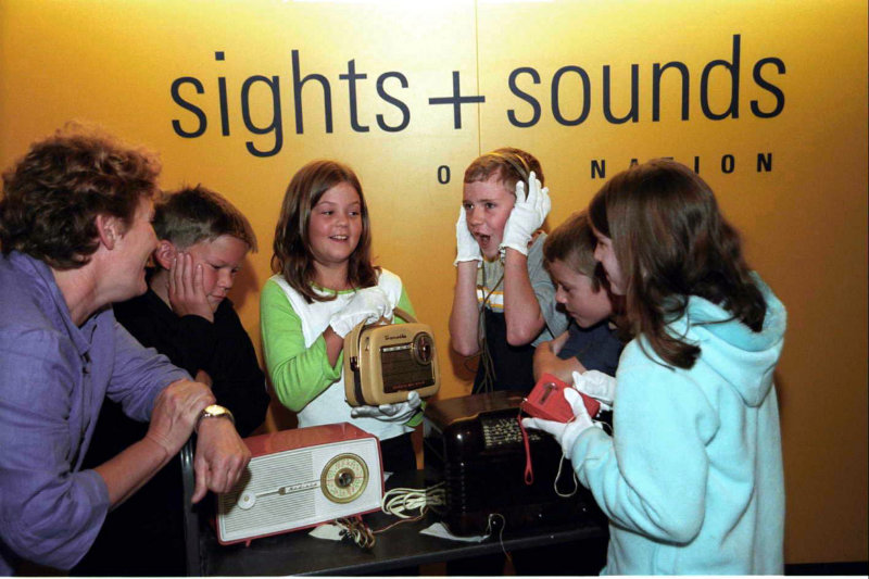 Kids get interactive at the National Film and Sound Archive, Canberra